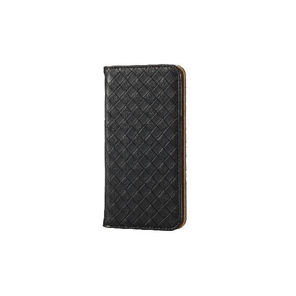 エレコム iPhone6s/6用ソフトレザーカバー/編込み/ブラック PM-A15PLFMBKf00