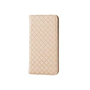 エレコム iPhone6s/6用ソフトレザーカバー/編込み/アイボリー PM-A15PLFMIV h01
