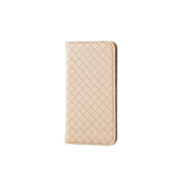 エレコム iPhone6s/6用ソフトレザーカバー/編込み/アイボリー PM-A15PLFMIVf00