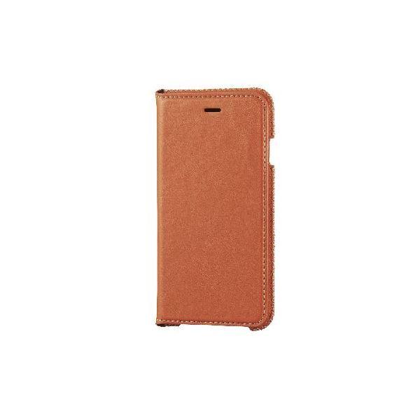 エレコム iPhone6s/6用本革(スプリット)ケース/オレンジ PM-A15PLFNDRf00