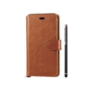 エレコム iPhone6s/6用ソフトレザー/タッチペン付/ブラウン PM-A15PLFTMBR h01