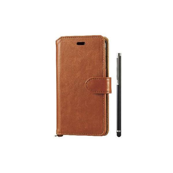 エレコム iPhone6s/6用ソフトレザー/タッチペン付/ブラウン PM-A15PLFTMBRf00