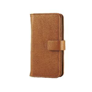 エレコム iPhone6s/6用ソフトレザー/カード収納/ブラウン PM-A15PLFWBR h01