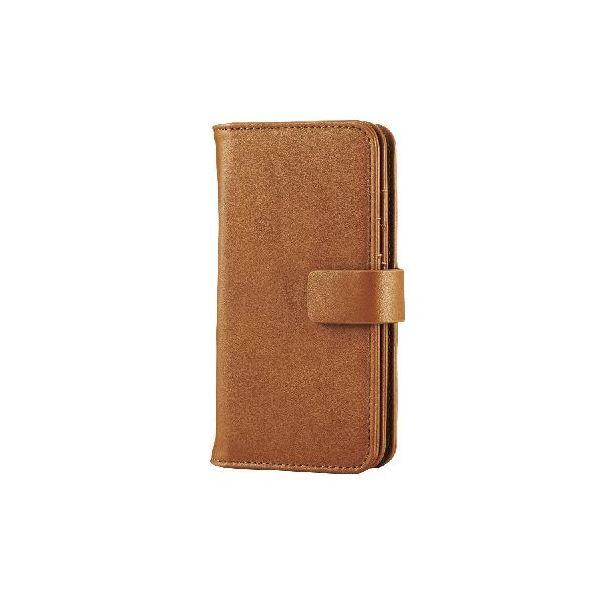 エレコム iPhone6s/6用ソフトレザー/カード収納/ブラウン PM-A15PLFWBRf00