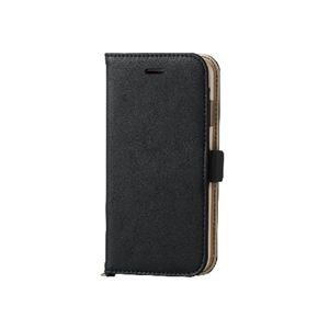 エレコムiPhone6s/6用ソフトレザーカバー/磁石タイプ/ブラックPM-A15PLFYBK