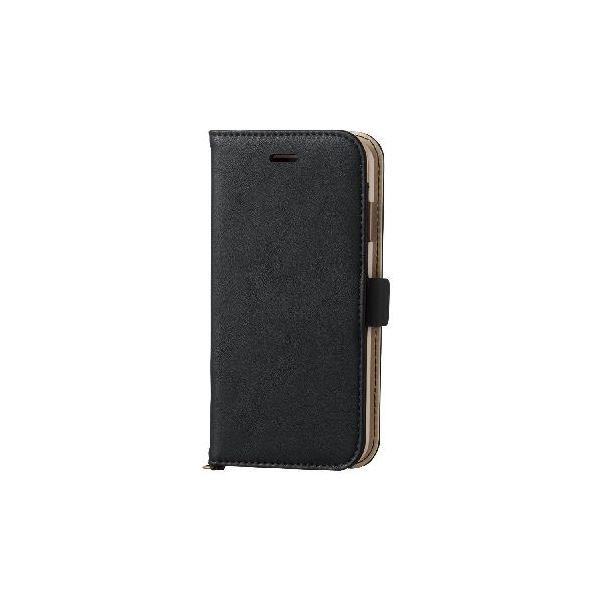 エレコム iPhone6s/6用ソフトレザーカバー/磁石タイプ/ブラック PM-A15PLFYBKf00