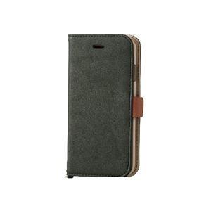 エレコム iPhone6s/6用ソフトレザーカバー/磁石タイプ/モスグリーン PM-A15PLFYGN h01