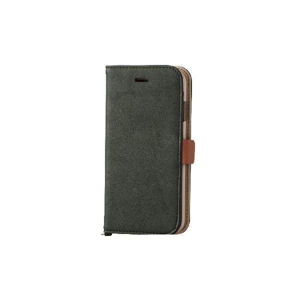 エレコム iPhone6s/6用ソフトレザーカバー/磁石タイプ/モスグリーン PM-A15PLFYGNf00