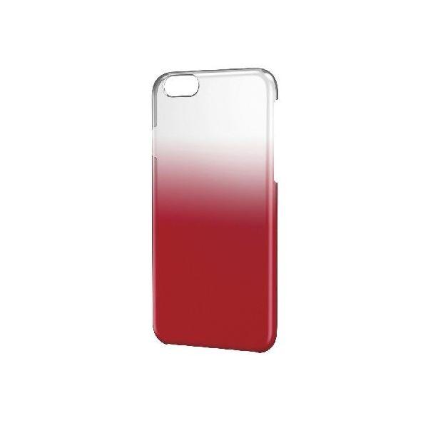 エレコム iPhone6s/6用シェルカバー/グラデーション/クリア×レッド PM-A15PVWCRDf00