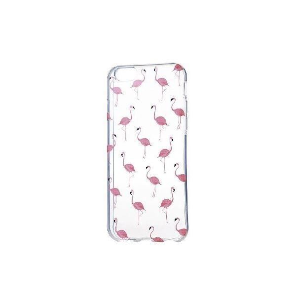 エレコム iPhone6s/6用ソフトケース/アップルテクスチャ/フラミンゴ PM-A15UCAT06f00