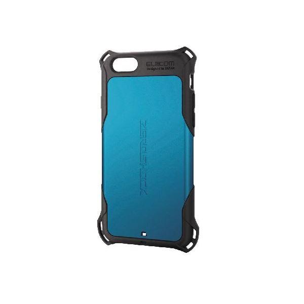 エレコム iPhone6s/6用ZEROSHOCKケース/ブルー PM-A15ZEROBUf00