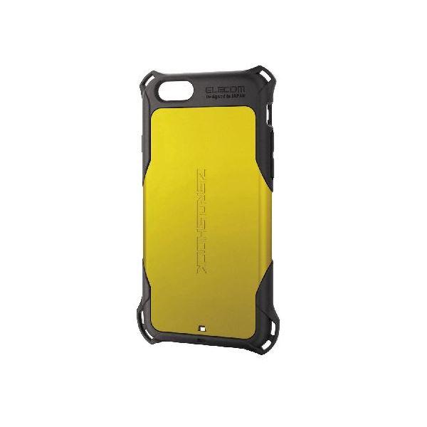 エレコム iPhone6s/6用ZEROSHOCKケース/イエロー PM-A15ZEROYLf00