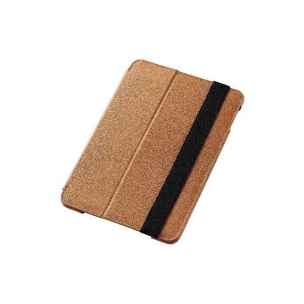 エレコム iPad mini 4/ソフトレザーケース/2段階調節/ブラウン TB-A15SPLF1BRf00