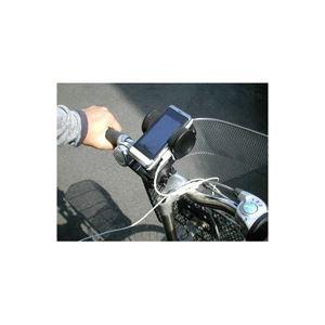 (まとめ)ITPROTECH 自転車用携帯端末ホルダー「BICYCLE PHONE HOLDER」 IPT-SHH-BK【×5セット】