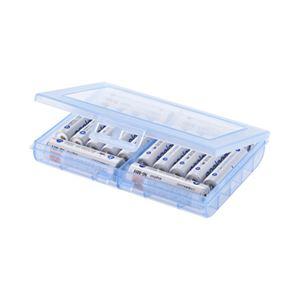 (まとめ)サンワサプライ電池ケース(単3形、単4形対応・ブルー)DG-BT5BL【×10セット】