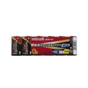 (まとめ)maxell(マクセル)アルカリ乾電池ボルテージ単1形6本パックLR20(T)6P【×5セット】