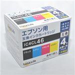 (まとめ)ワールドビジネスサプライ 【Luna Life】 エプソン用 互換インクカートリッジ IC4CL46 4本パック LN EP46/4P【×3セット】