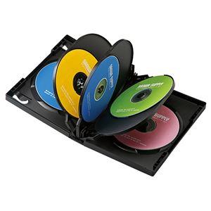 (まとめ)サンワサプライDVDトールケース(8枚収納)DVD-TW8-01BK【×5セット】