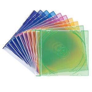 (まとめ)サンワサプライ DVD・CDケース(5色ミックス) FCD-PU10MX【×10セット】