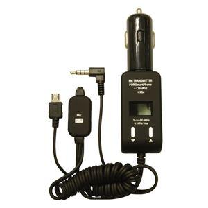 (まとめ)PROTEK スマートフォン用FMトランスミッター手ぶら通話+充電 ブラック PSTM-MC-BK【×2セット】