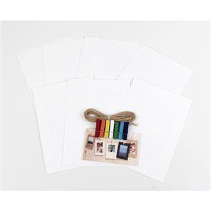 (まとめ)エツミ ペーパーフォトフレーム ハガキサイズ ホワイトL DE-PH-LW【×5セット】 商品画像