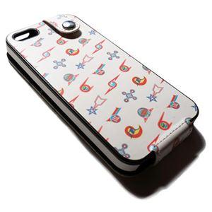 (まとめ)ブライトンネット iPHONE5/5s用チ-ムエンブレムレザ-ケ-ス BI-IPVTEULT/WH【×2セット】