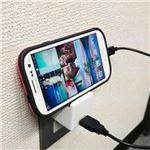 (まとめ)ブライトンネット スタンド機能付USB-ACアダプタ 2A対応 ホワイト BM-USBACSTD/WH【×3セット】