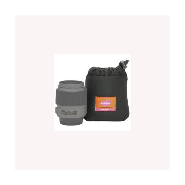 (まとめ)エツミ クッションレンズポーチSS(ブラック) E-5115【×5セット】f00