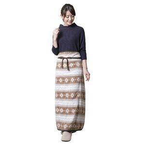 (まとめ)昭光プラスチック製品 電気を使わない 巻きスカート型ひざ掛け ノルディック柄 8093811【×2セット】