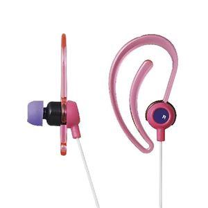 エレコム スポーツ向け耳栓タイプステレオヘッドホン EHP-SPIN200PN【×5セット】 h01