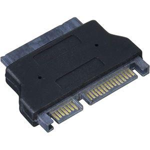 (まとめ)変換名人 SATAドライブ変換 microSATA-SATA ドライブ SATAMI-SATA【×5セット】