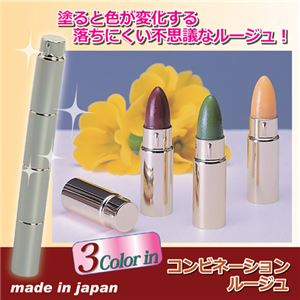 (まとめ)大阪化粧品 コンビネーションリップルージュ 809778【×3セット】 - 拡大画像