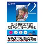 (まとめ)サンワサプライ インクジェット両面写真用紙・半光沢 JP-EK4RVA4N【×3セット】