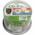 (まとめ)HI DISC CD-R 700MB 50枚スピンドル データ用 52倍速対応 白ワイドプリンタブル HDCR80GP50【×5セット】