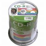 (まとめ)HI DISC CD-R 700MB 100枚スピンドル データ用 52倍速対応 白ワイドプリンタブル HDCR80GP100【×2セット】