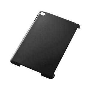 (まとめ)エレコム iPad mini 4/スマートカバー対応シェルカバー/クリアブラック TB-A15SPV2BK【×2セット】