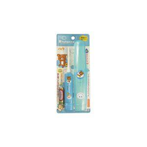 (まとめ)ハピカ リラックマ電動歯ブラシ ブルー DBM-5B(RK)【×5セット】