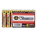 (まとめ)オーム電機 アルカリ乾電池 Vシリーズ 単4形×8本パック LR03S8PV LR03S8PV【×10セット】