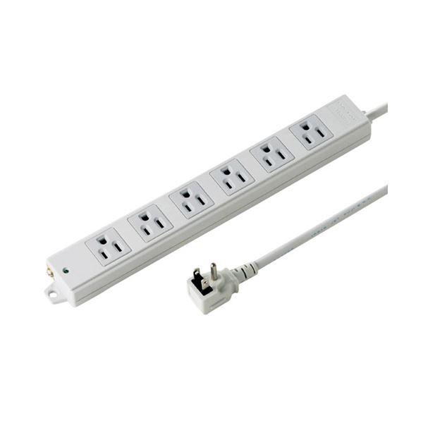 サンワサプライ 工事物件タップ(6個口・3m) TAP-K6NL-3f00