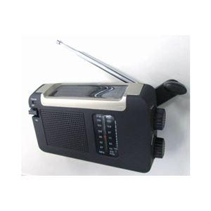 (まとめ)YAZAWA 手回し・ソーラー・USB充電式 電池が不要!AM/FMラジオ BL109RMSDBK【×2セット】