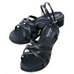 (まとめ)昭光プラスチック製品 O脚対策 美脚クロスバンドサンダル L 8099922【×2セット】