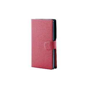 (まとめ)エレコム スマートフォン用手帳型マルチカバー(スリム・L) P-02WDT2PN【×2セット】