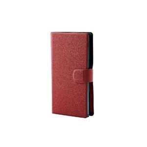 (まとめ)エレコム スマートフォン用手帳型マルチカバー(スリム・L) P-02WDT2RD【×2セット】