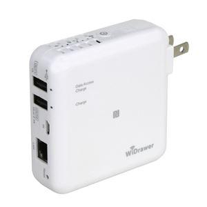 ラトックシステム Wi-Fi USBリーダー (スマホ・タブレット充電機能付) REX-WIFIUSB2X h01