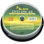 (まとめ)磁気研究所 DVD-RW 4.7GB 10枚スピンドル データ用 4倍速対応 メーカーレーベル MR.DATA DVD-RW47 4X10PS【×5セット】