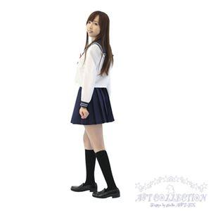 コスプレ AKIBA清純セーラー ホワイト 長袖 KA0114NB - 拡大画像