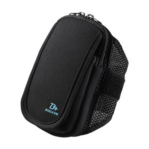 (まとめ)サンワサプライ アームバンドスポーツケース(Mサイズ・5.2インチ・ブラック) PDA-ARM3BK【×3セット】