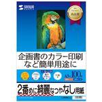 (まとめ)サンワサプライ インクジェットスーパーファイン用紙(A3) JP-EM4NA3N2【×3セット】