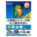 (まとめ)サンワサプライ インクジェットスーパーファイン用紙・100枚 JP-EM4NA4N-100【×5セット】