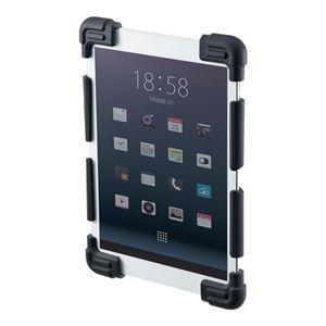 (まとめ)サンワサプライ 耐衝撃シリコンケース(8.9〜11.6インチ) PDA-TABH4BK【×3セット】